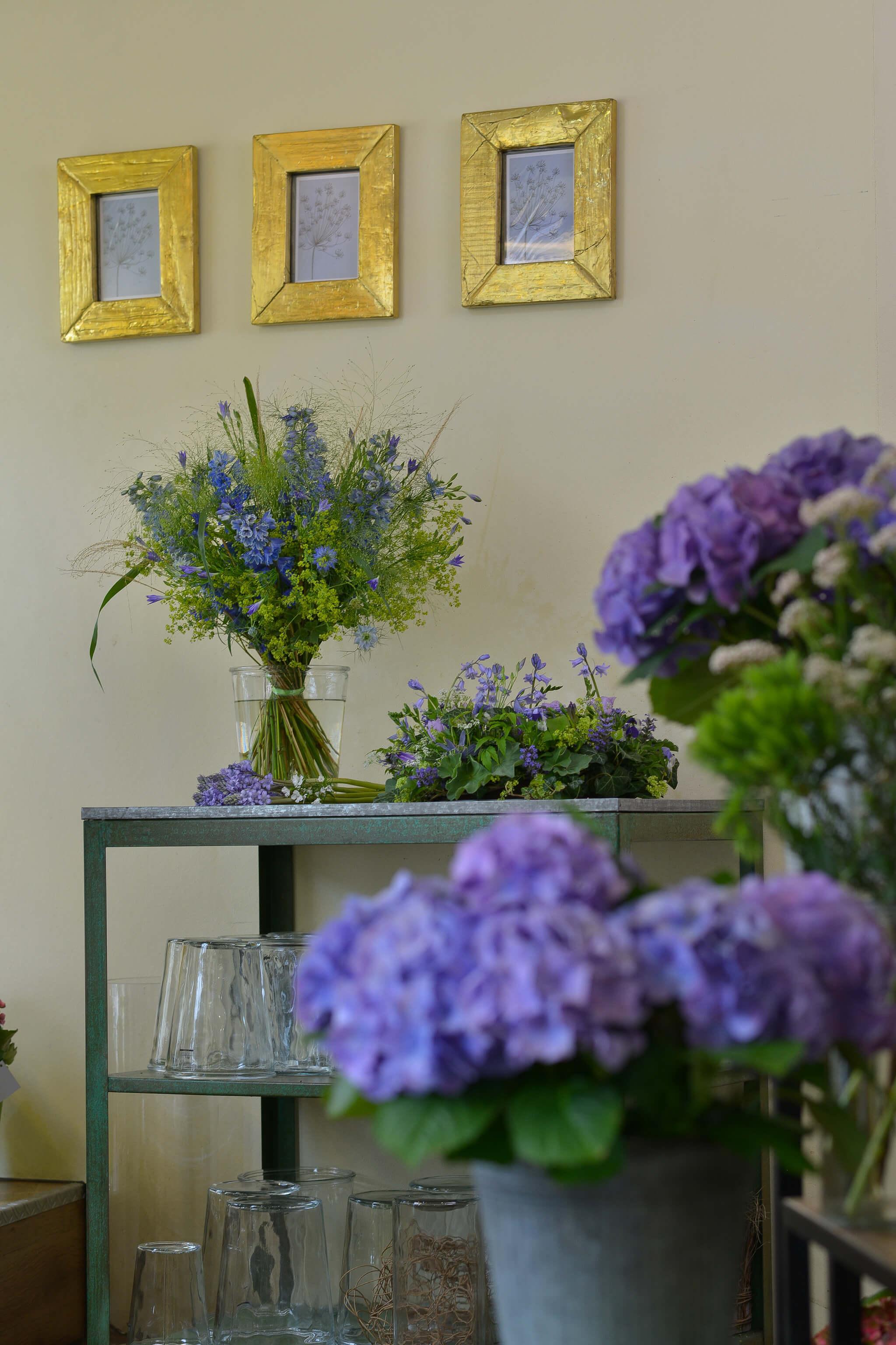Blumen Hiedl Laden Blaue Blumen