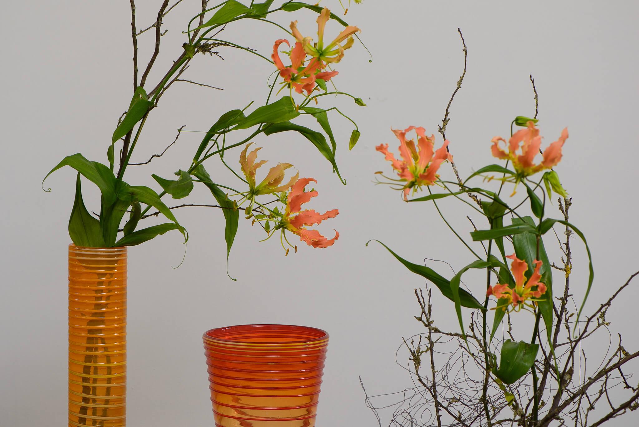 Blumendeko Orange