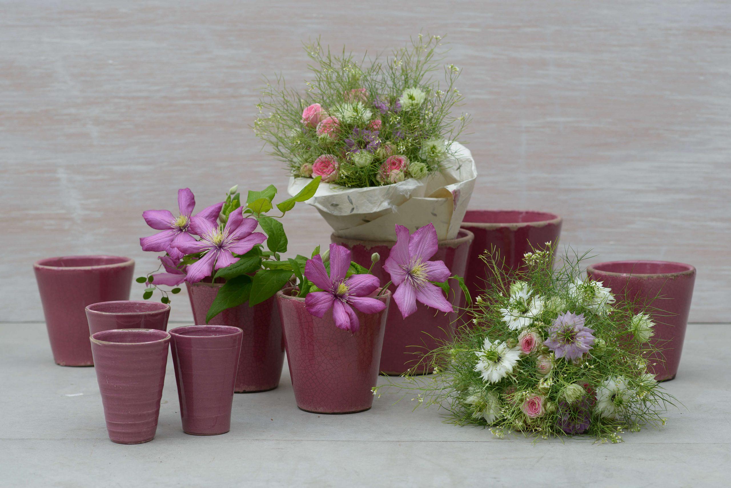 Blumendeko Violett