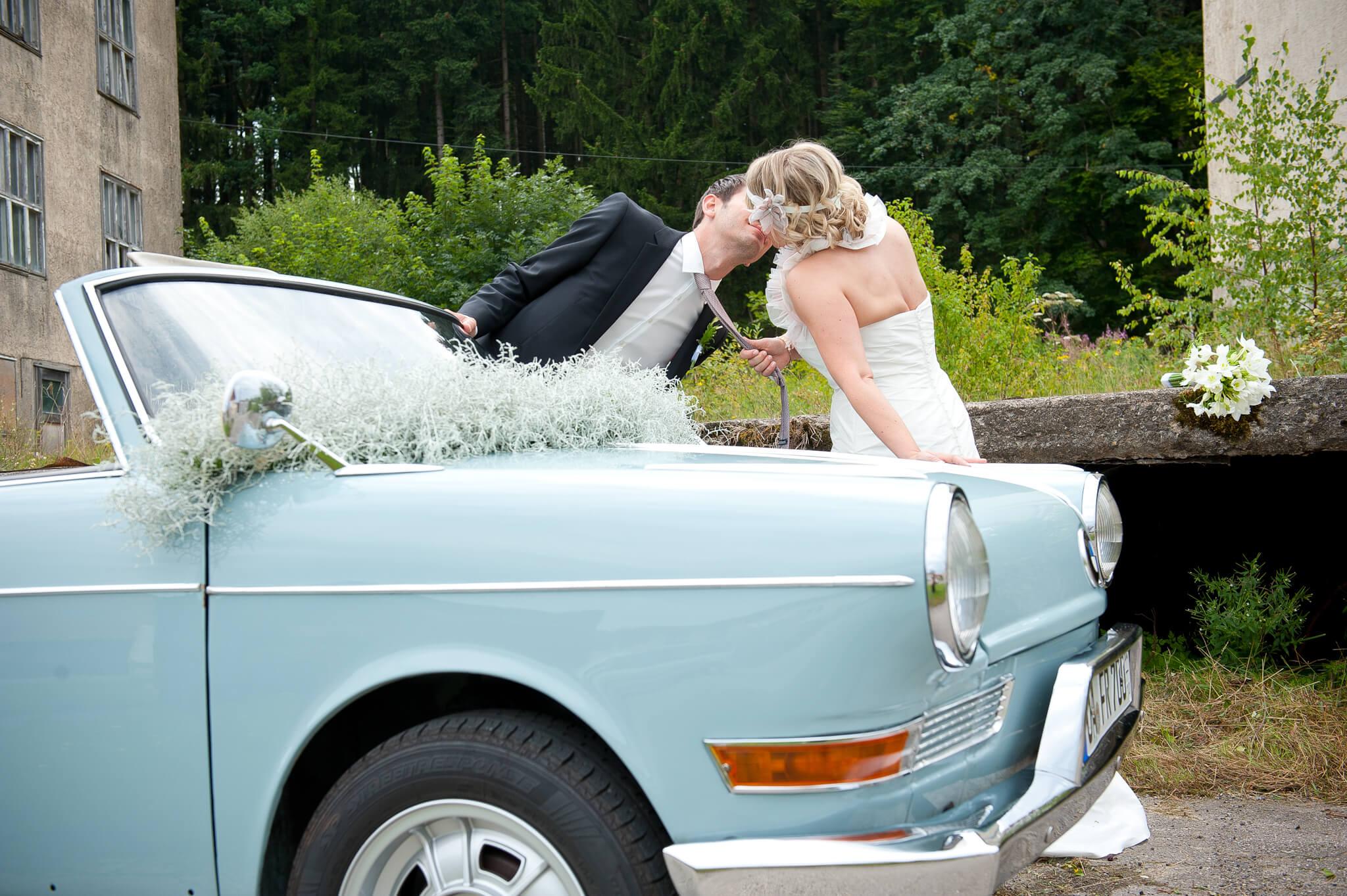 Hochzeit Autodeko Luftig
