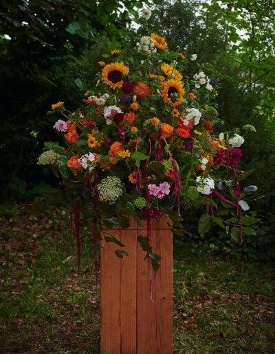 Imposantes Arrangement Mit Sonnenblumen