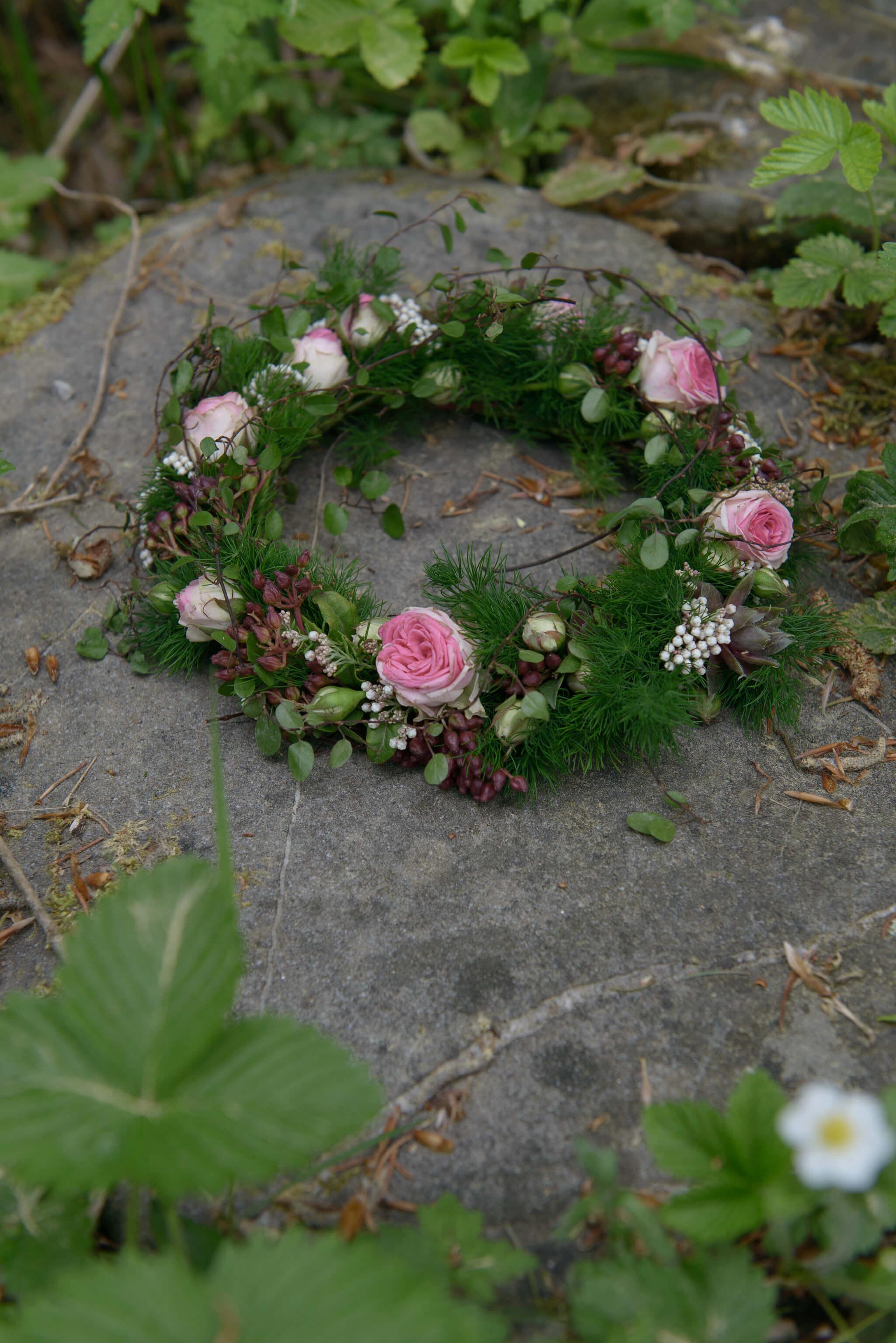 Kraenzchen Trauer Rosen