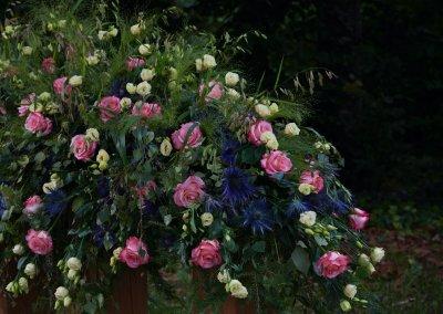 Liebevoller Abschied In Rosa Weiss Blau