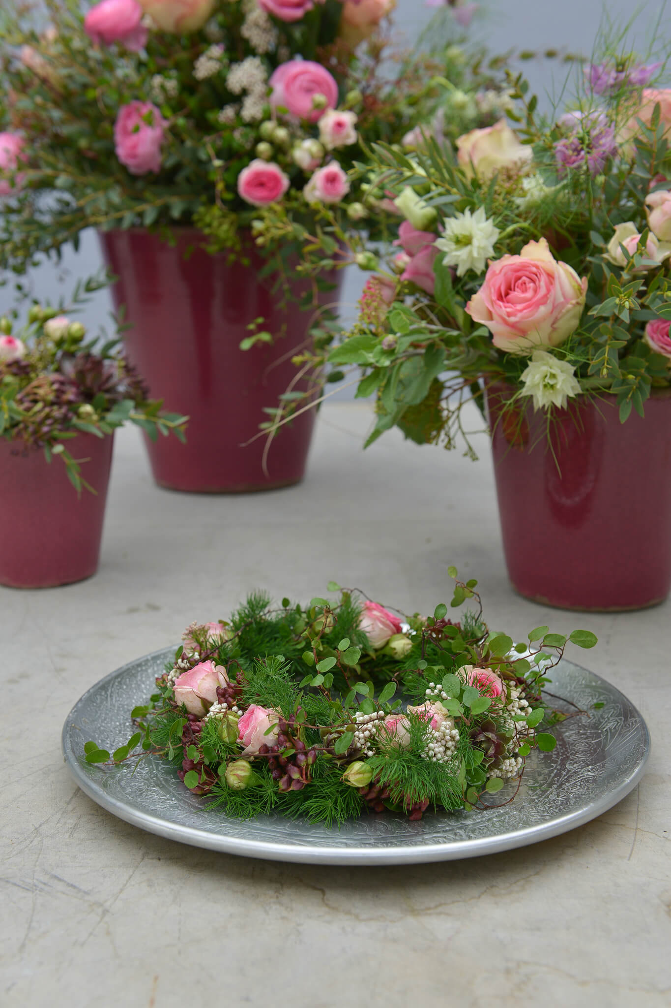 Rosa Pink Blumendeko