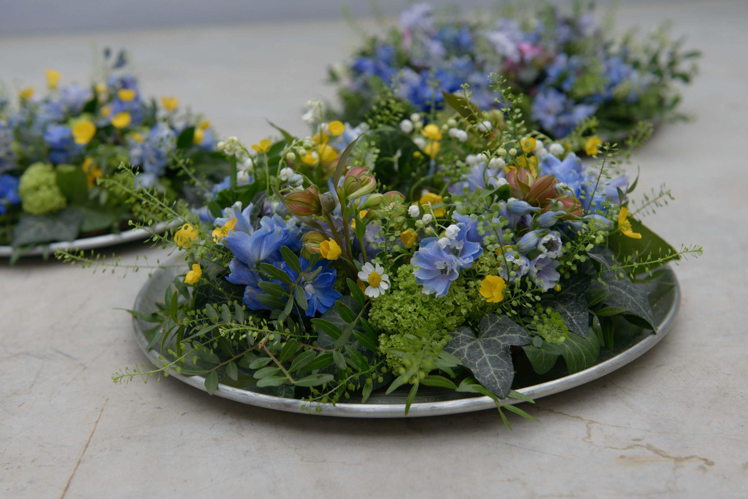 Tischdeko Bauerngarten
