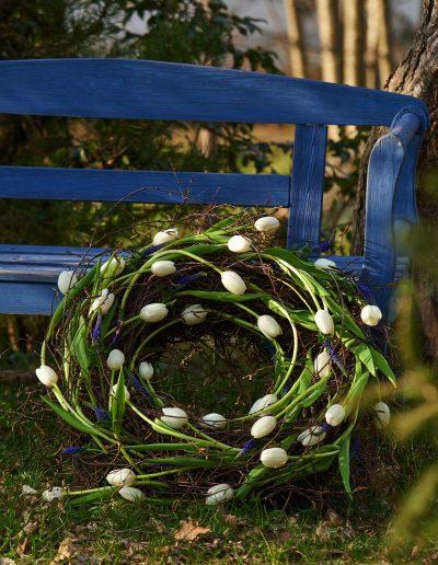Tulpenkranz Weisse Tulpen