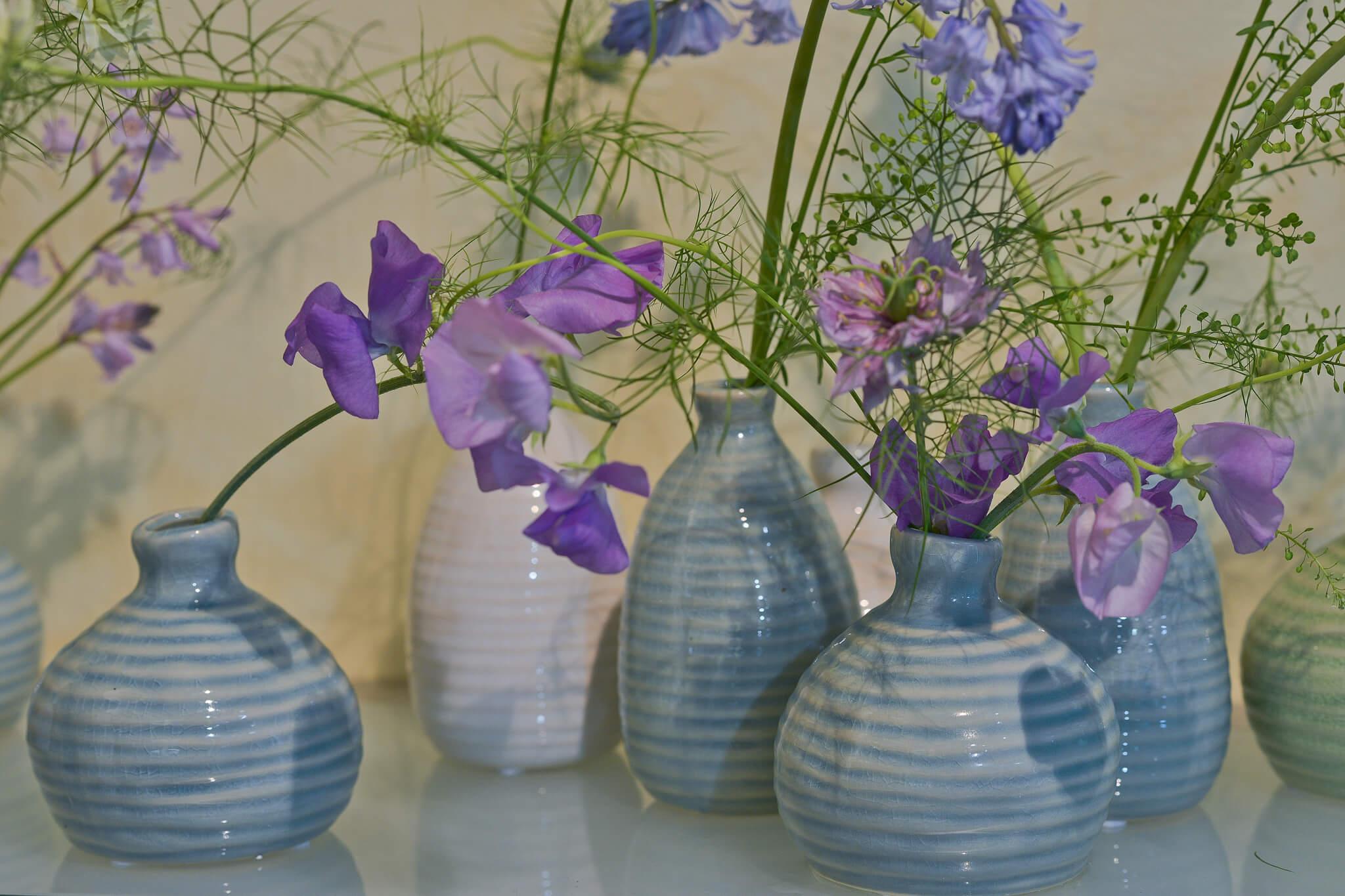 Vasen Keramik Blau